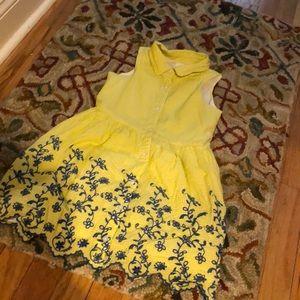 Girl's Gingham Shirt Dress